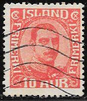 Iceland 115 Used - King Christian X