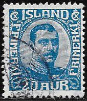 Iceland 118 Used - King Christian X