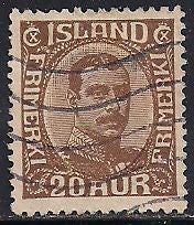 Iceland 119 Used - King Christian X