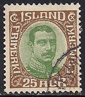 Iceland 120 Used - King Christian X