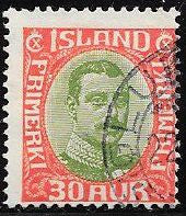 Iceland 122 Used - King Christian X