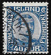 Iceland 124 Used - King Christian X