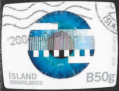 Iceland 1413 Used - ‭‭Icelandic National Television Network, 50th Anniversary