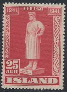 Iceland 237 Unused/Hinged - Snorri Sturluson