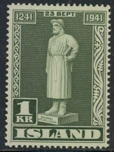 Iceland 239 Unused/Hinged - Snorri Sturluson