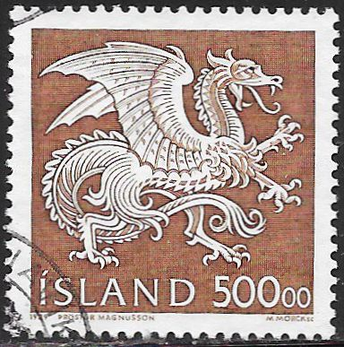 Iceland 677 Used - Guardian Spirit - Dragon
