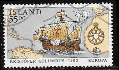 Iceland 749 Used - Christopher Columbus