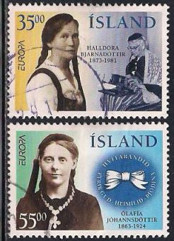 Iceland 818-819 Used - Europa - Famous Women