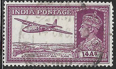India 161A Used - Mail Plane - George VI