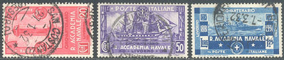 Italy 265-267 Used - Naval Academy