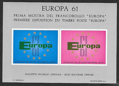 Italy Private Europa Souvenir Sheet