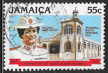Jamaica 672 Used - Salvation Army - Colonel ‭Mary Booth, Bramwell - Booth Memorial Hall