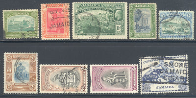 Jamaica 9 Different Used Stamps