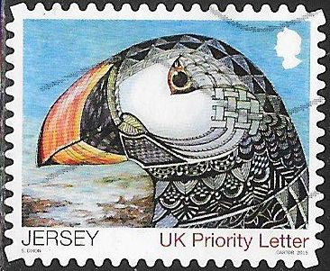 Jersey 1911a Used - ‭ ‭Winning Children's Art - ‭Puffin, by Sophie Dixon