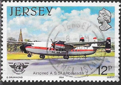 Jersey 337 Used -‭ 40th Anniversary of International Civil Aviation - ‭Airspeed AS-57 Ambassador