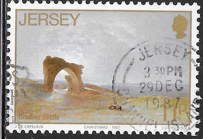 Jersey 437 Used -‭ ‭Paintings by John Le Capelain - ‭Grosnez Castle