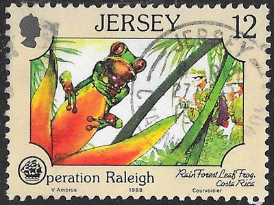 Jersey 461 Used - ‭WHO 40th Anniversary - Operation Raleigh - ‭Rain Forest Leaf Frog, Costa Rica