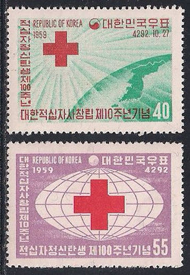 Korea 295-296 MNH - Red Cross