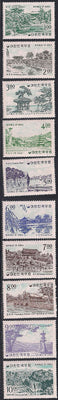 Korea 434-443 & 439a-443a MNH - Scenic Views