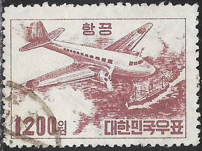 Korea C6 Used - Douglas C-47 & Ship
