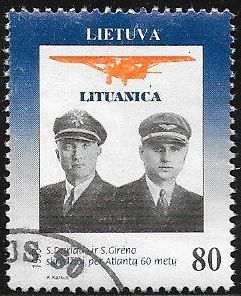 Lithuania 458 MNH - Lithuanian Unity Day -Captains Darius & Girenas
