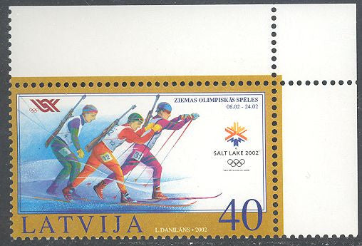 Latvia 546 MNH - Winter Olympics 2002 - Biathalon