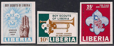 Liberia 421-422 & C164 MNH Imperf - Scouts