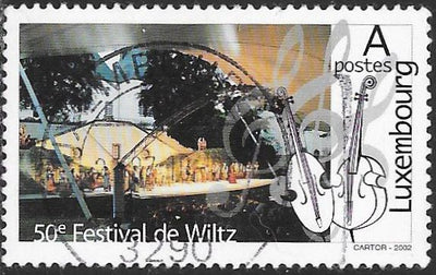 Luxembourg 1093 Used - Cultural Anniversaries - Wiltz Festival 50th Anniversary