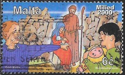 Malta 1032 Used - ‭Christmas - ‭Children, Holy Family