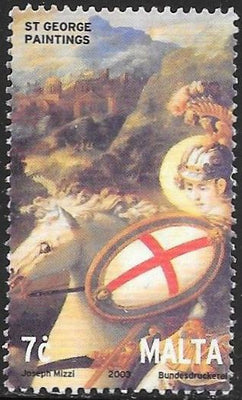 Malta 1119 Used - Martyrdom of St. George, 1700th Anniversary - Paintings