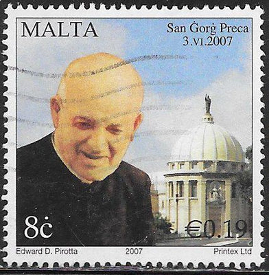 Malta 1288 Used - ‭‭Canonization of St. George Preca (1880-1962)