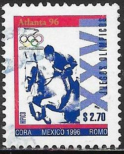 Mexico 1985e Used - ‭‭‭1996 Summer Olympics - Equestrian Horse Jumping