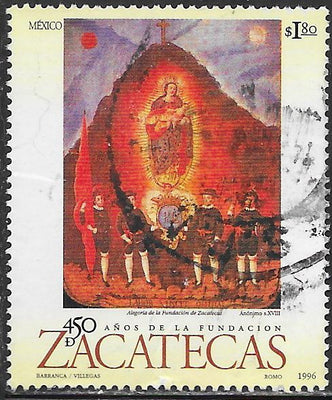Mexico 1990 Used - ‭City of Zacatecas, 450th Anniversary