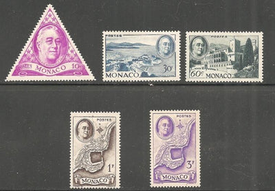 Monaco 198-202 Unused/Hinged - Hinge Remnant - Short Set - Franklin D. Roosevelt