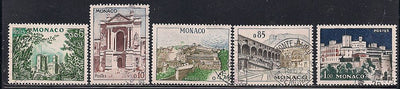 Monaco 474-478 Used - Palace of Monaco