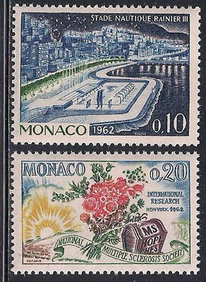 Monaco 505-506 MNH - Aquatic Stadium - Multiple Sclerosis