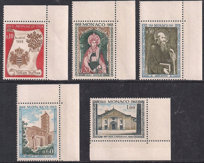 Monaco 684-688 MNH - St. Nicholas Church
