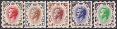Monaco 725-728 & 730 MNH - Prince Rainier - Short Set
