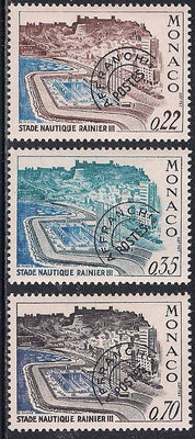 Monaco 732-734 MNH - Aquatic Stadium