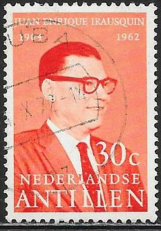 Netherlands Antilles (Curacao) 338 Used - Juan Enrique Irausquin