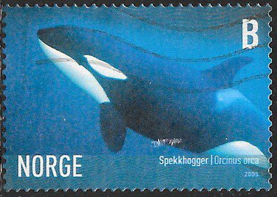 Norway 1440 Used - Marine Life - Killer Whale (‭Orcinus orca)