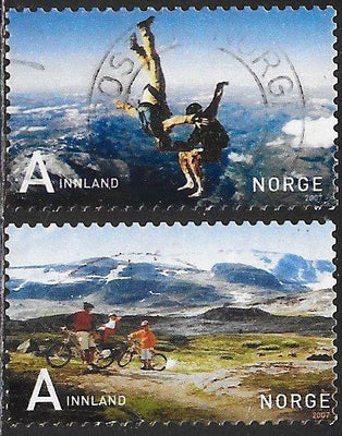 Norway 1504-1505 Used - Skydivers & Cyclists