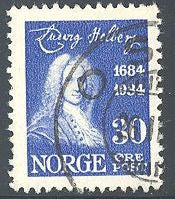 Norway 161 Used - Ludwig Holberg