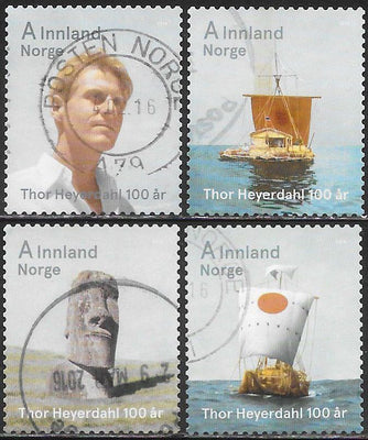Norway 1738-1741 Used - ‭‭Thor Heyerdahl Centenary