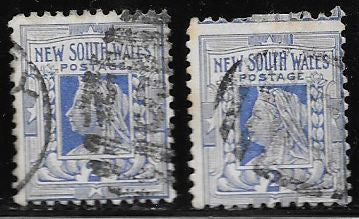 New South Wales 99 & 99a Used Victoria Inverted Watermark