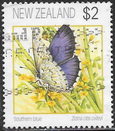 New Zealand 1076 Used - ‭Butterflies - Southern Blue