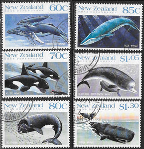 New Zealand 936-941 Used - Whales of the Southern Oceans