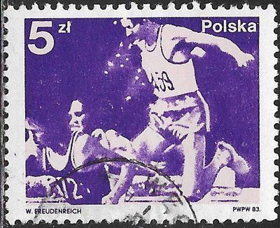 Poland 2568 Used - ‭‭Polish Medalists in 22nd Olympic Games, 1980 - ‭Steeplechase