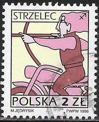 Poland 3287 Used - Signs of the Zodiac - Sagittarius