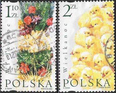 Poland 3626-3627 Used - ‭‭Easter